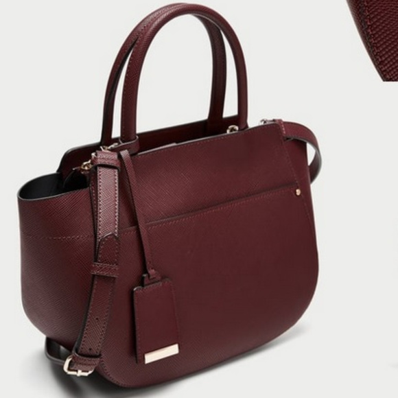 5907a90190f Zara Burgundy Medium Tote Bag. M_5aa18fff9d20f0daf2831323
